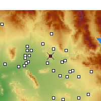 Nearby Forecast Locations - Paradise Valley - Map