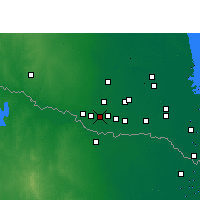 Nearby Forecast Locations - Pharr - Map