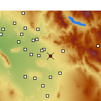 Nearby Forecast Locations - Queen Creek - Map
