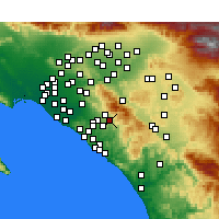 Nearby Forecast Locations - Rancho Santa Margarita - Map