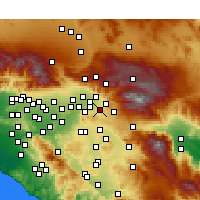 Nearby Forecast Locations - Redlands - Map