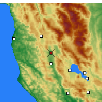 Nearby Forecast Locations - Redwood Valley - Map