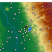 Nearby Forecast Locations - Rocklin - Map