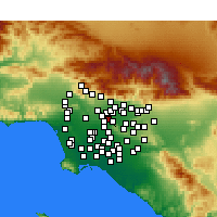 Nearby Forecast Locations - Rosemead - Map