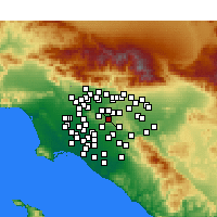 Nearby Forecast Locations - Rowland Heights - Map