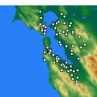 Nearby Forecast Locations - San Bruno - Map