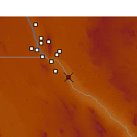 Nearby Forecast Locations - San Elizario - Map