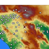 Nearby Forecast Locations - San Jacinto - Map