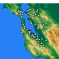 Nearby Forecast Locations - San Mateo - Map