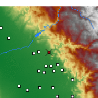 Nearby Forecast Locations - Sanger - Map