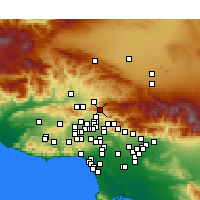 Nearby Forecast Locations - Santa Clarita - Map