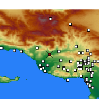 Nearby Forecast Locations - Santa Paula - Map