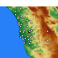 Nearby Forecast Locations - Santee - Map