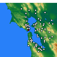 Nearby Forecast Locations - Sausalito - Map