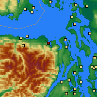 Nearby Forecast Locations - Sequim - Map