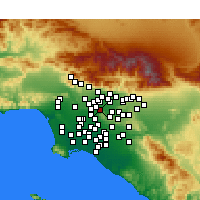 Nearby Forecast Locations - South El Monte - Map