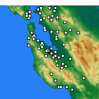 Nearby Forecast Locations - Stanford - Map