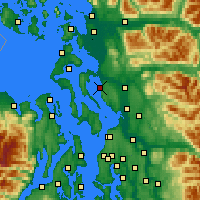 Nearby Forecast Locations - Stanwood - Map