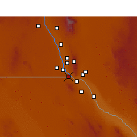 Nearby Forecast Locations - Sunland Park - Map