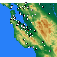 Nearby Forecast Locations - Sunnyvale - Map