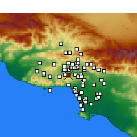Nearby Forecast Locations - Tarzana - Map