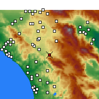 Nearby Forecast Locations - Temecula - Map