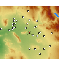 Nearby Forecast Locations - Tempe - Map