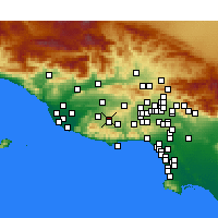 Nearby Forecast Locations - Thousand Oaks - Map