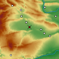 Nearby Forecast Locations - Toppenish - Map