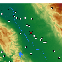 Nearby Forecast Locations - Turlock - Map