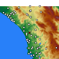 Nearby Forecast Locations - Vista - Map