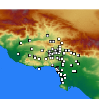 Nearby Forecast Locations - West Hills - Map