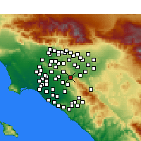 Nearby Forecast Locations - Yorba Linda - Map