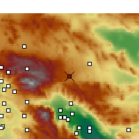Nearby Forecast Locations - Yucca Valley - Map