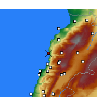 Nearby Forecast Locations - Byblos - Map
