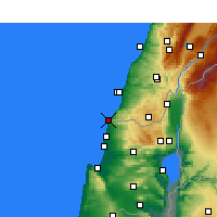 Nearby Forecast Locations - Naqoura - Map