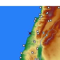 Nearby Forecast Locations - Sidon - Map