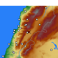 Nearby Forecast Locations - Zahlé - Map