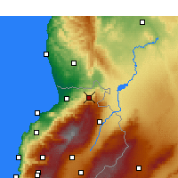 Nearby Forecast Locations - Al Qoubaiyat - Map